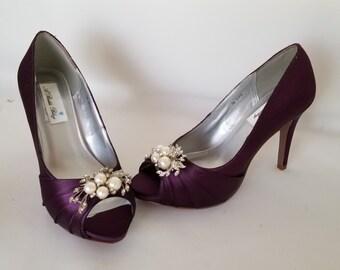 Purple Bridal Shoes Etsy
