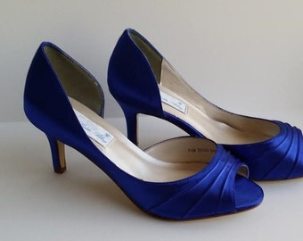 1d4f34ceab78 Sapphire Blue Wedding Shoes Sapphire Blue Bridal Shoes Sapphire Blue  Bridesmaid Shoes PICK FROM 100 COLORS Bridesmaid Shoes