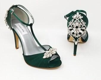 Green bridal shoes  Etsy