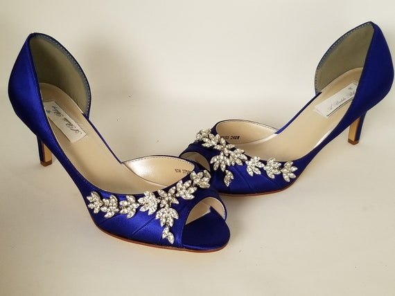 d79c8b5d4e3 Blue Wedding Shoes Blue Bridal Shoes with Imported Crystal