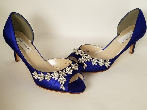 Blaue Hochzeit Schuhe Blau Brautschuhe Mit Importierten Etsy