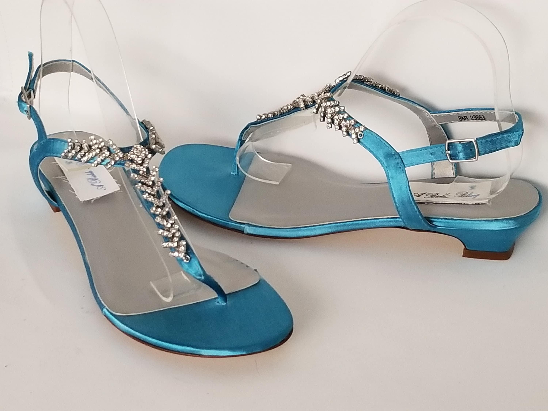 7b224e7f914 Malibu Blue Wedding Shoes Malibu Blue Wedding Sandals Bridal