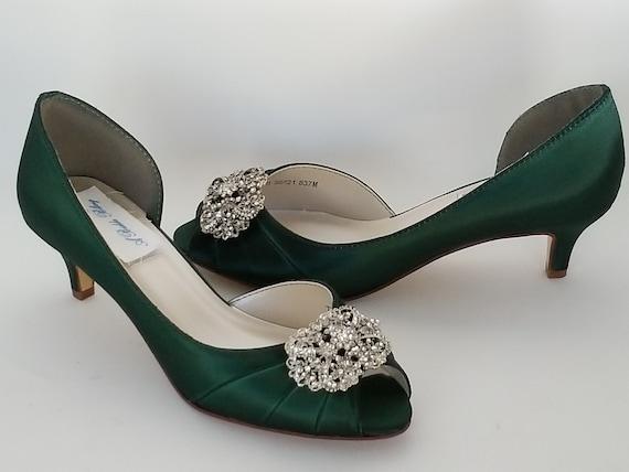 Scarpe Verdi Sposa.Scarpe Da Sposa Verdi Con Vintage Style Rettangolo Disegno Etsy