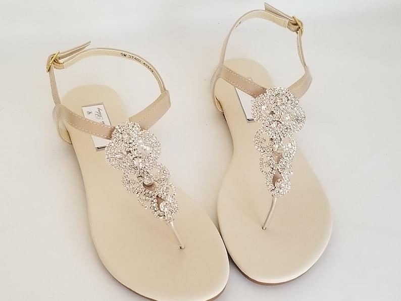 dc9b7e3a0ab6 Ivory Wedding Sandals Nude Bridal Sandals Ivory Bridal Sandals