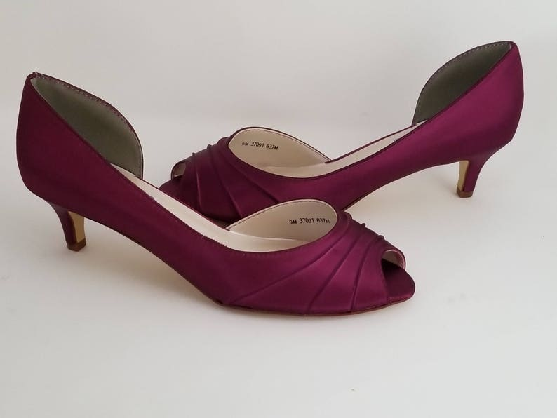 bff47b18d68 Burgundy Wedding Shoes Burgundy Bridal Shoes Burgundy Kitten