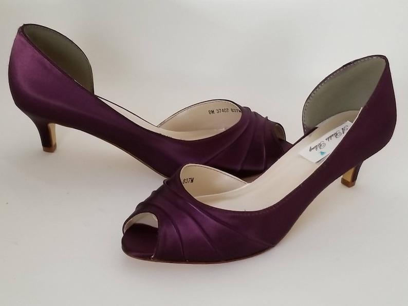 b39f4ffdfe3790 Eggplant Purple Wedding Shoes Eggplant Purple Bridal Shoes or