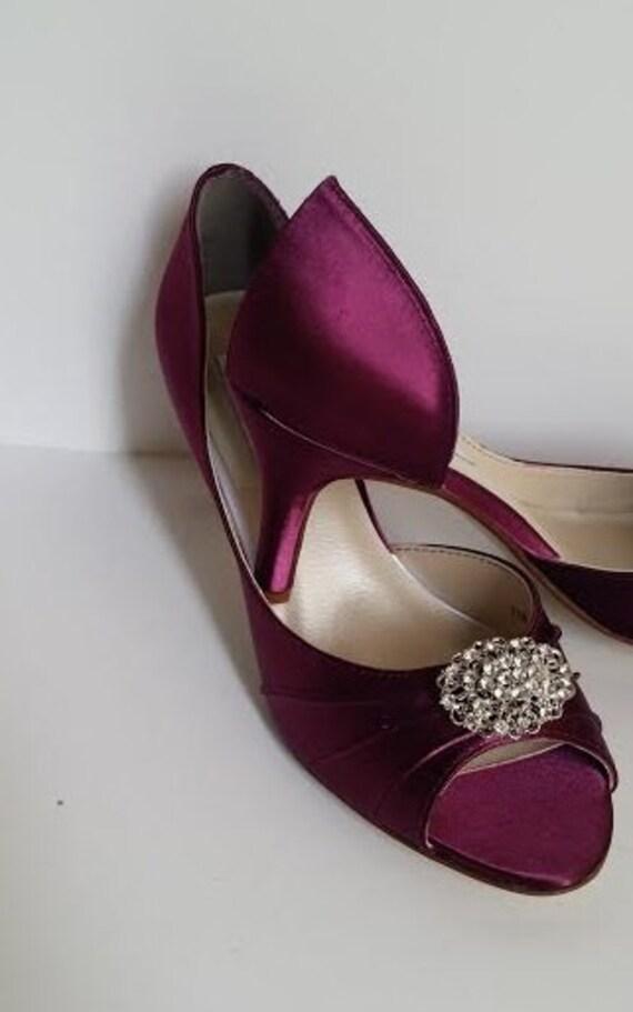 Burgund Hochzeit Schuhe Bordeaux Brautschuhe Mit Vintage Stil Etsy