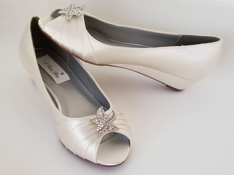 Ivory Wedding Wedge Heels: Ivory Wedding Shoes Ivory Bridal Shoes Ivory Wedges With