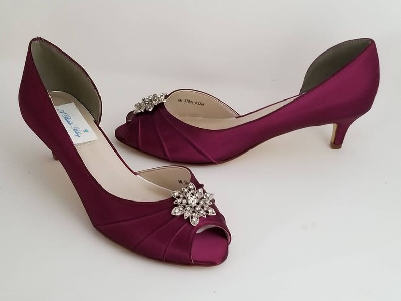 8c01c624b3f Burgundy Wedding Shoes Vintage Flower Burgundy Bridal Shoes