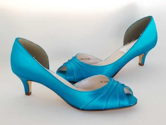 the best attitude bb2a4 1afd8 Turquoise Blue Wedding Shoes Turquoise Blue Bridal Shoes Blue   Etsy