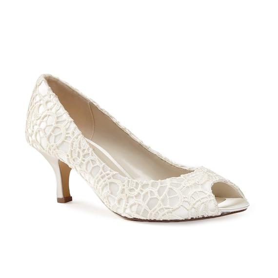 SALE Ivory Lace Bridal Shoes Ivory Lace