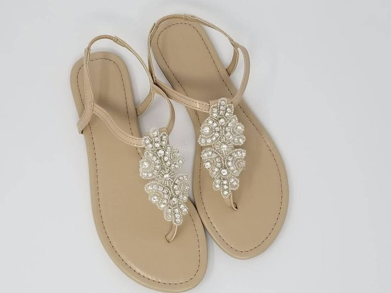 4fb26b062086 Ivory Wedding Sandals with Crystal Applique Bridal Sandals Destination  Wedding ... Ivory Wedding Sandals with Crystal Applique Bridal Sandals  Destination ...