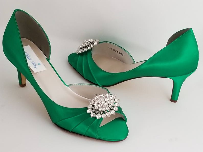 9afc2ebd207 Emerald Green Bridal Shoes Emerald Green Wedding Shoes with