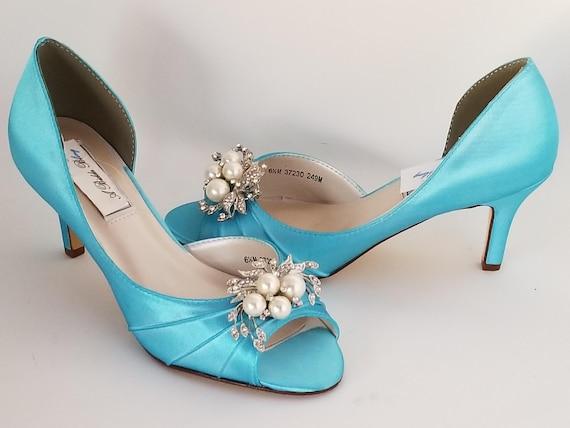 Blue Wedding Shoes Aqua Wedding Shoes PICK FROM 100 COLORS | Etsy