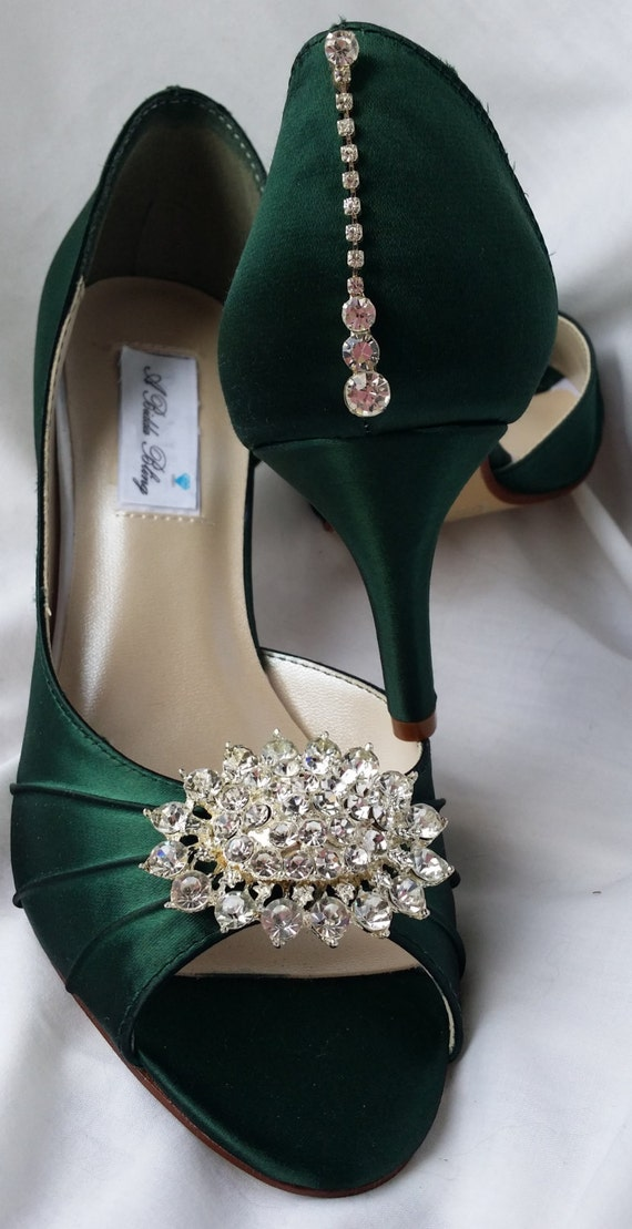 Hunter Green Wedding Shoes Hunter Green Bridal Shoes with ...