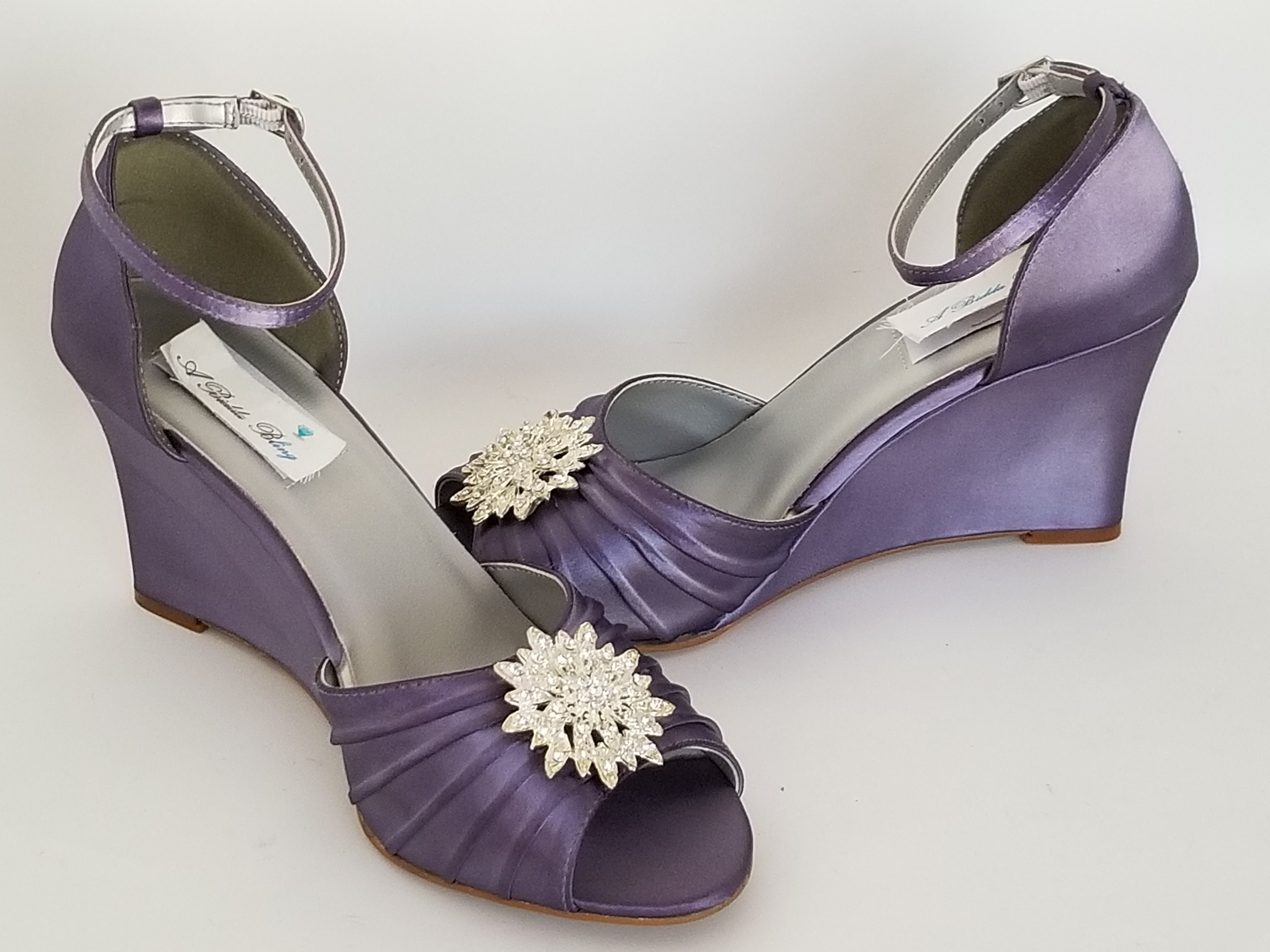 Lilac Purple Wedding Shoes Lilac Purple Bridal Shoes Lilac Etsy