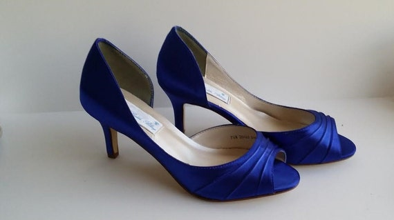 Super remise 50-70% de réduction liquidation à chaud Zaffiro blu nozze scarpe scarpe da sposa blu zaffiro zaffiro blu damigella  d'onore PICK da 100 colori scarpe damigelle