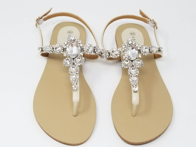 063947212c619 Ivory Wedding Sandals Ivory Bridal Sandals with Chunky
