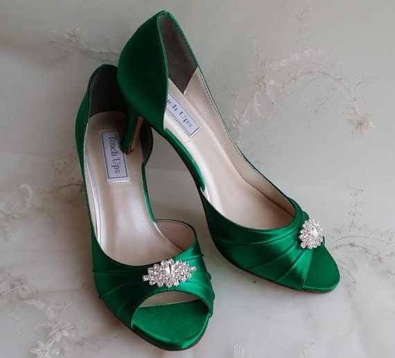Wedding Shoes Australia: Emerald Green Bridal Shoes Green Wedding Shoes Green