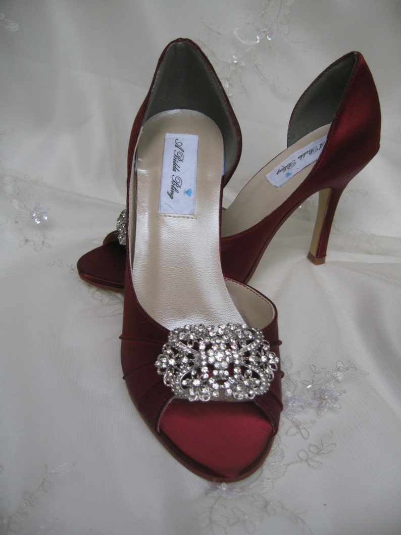4db5e0cfe2b8ff Red Wedding Shoes Bridal Apple Red Shoes Vintage Inspired