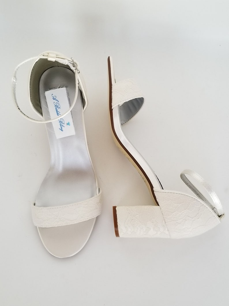 63d4190f1e2 Ivory Wedding Shoes with Block Heel Ivory Bridal Shoes with