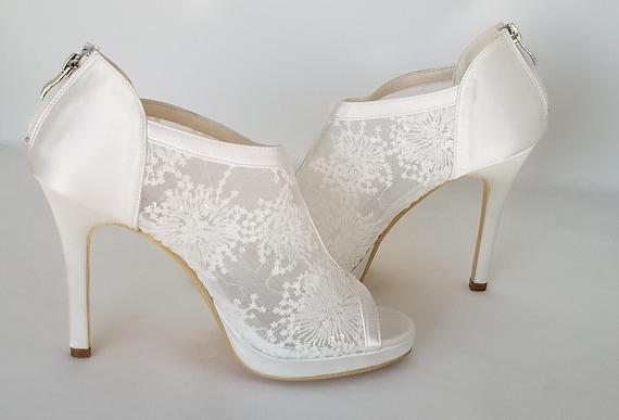 SALE Lace Wedding Shoes Lace Bridal