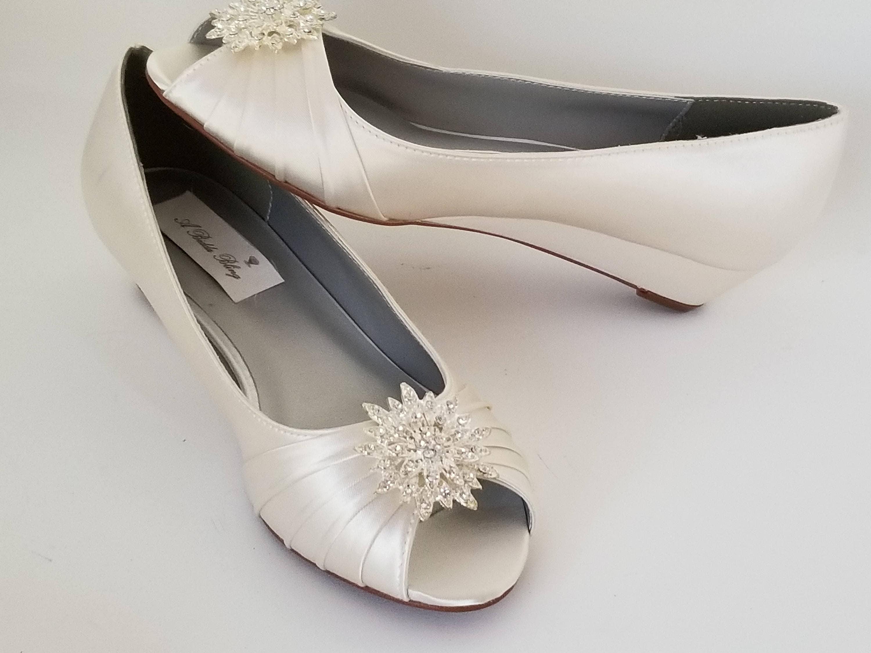 Ivory Wedding Shoes Ivory Bridal Shoes Ivory Wedges With Etsy