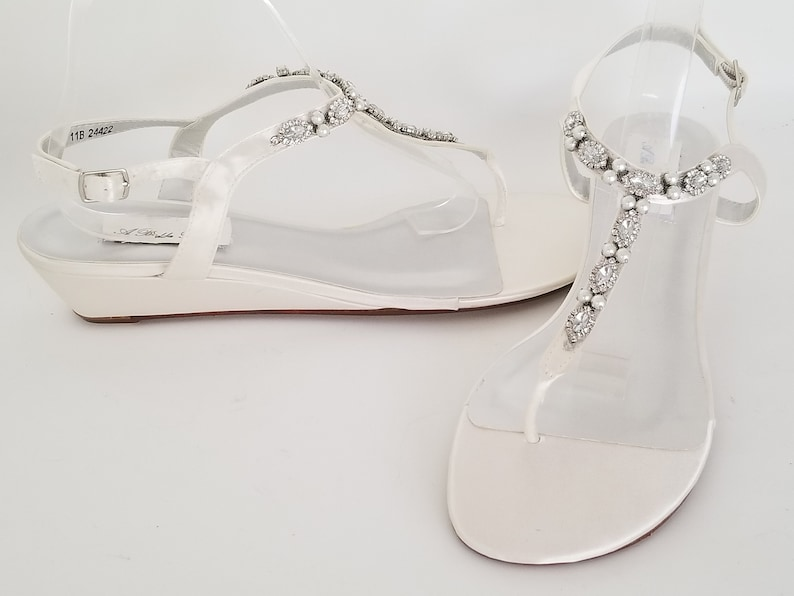 13da4c96b7eb Ivory Wedding Shoes Ivory Wedding Sandals Ivory Bridal Sandals | Etsy