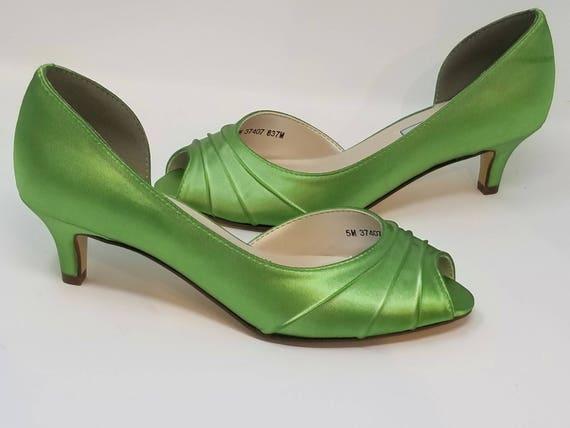 Scarpe Verdi Sposa.Scarpe Da Sposa Verde Scarpe Da Sposa Verde Apple Green Etsy