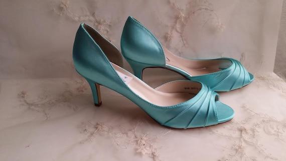 Aqua Blue Wedding Shoes Aqua Blue Bridal Shoes Aqua Blue | Etsy