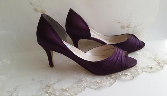 Wedding Shoes Bridal Shoes Eggplant Purple Wedding Shoes or   Etsy