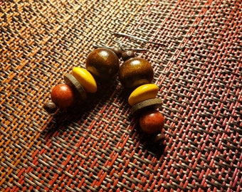 Colorful Shades of Wood Dangles