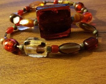Dynamic Brown Double Stack Bracelet Set