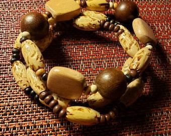 Chunky Wooden Wonderful Bracelet Trio