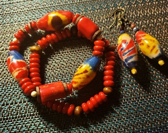 Chunky Colorful Arm Candy & Eating Set