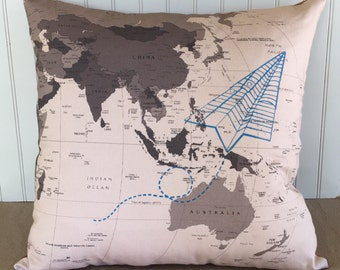 Paper Airplane Pillow Cover