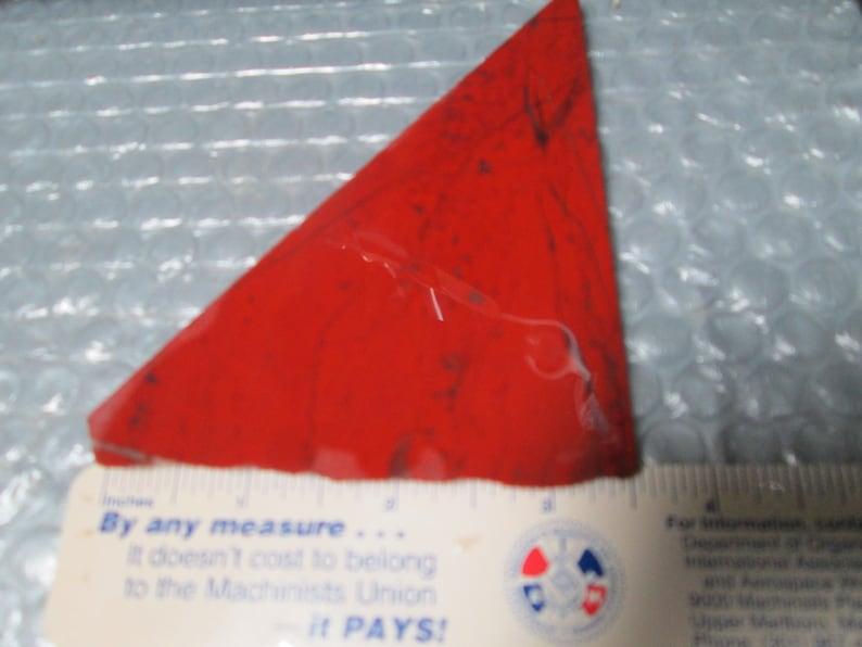 Rough Un-Polished Red Jasper Triamgle Sheped Cabbing Slab 5 x 3 x 14 Inch