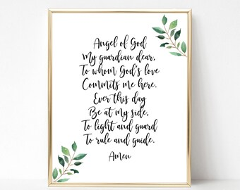 graphic relating to Guardian Angel Prayer Printable known as Dad or mum Angel Prayer Poem For Little ones Angel of God My