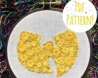 Floral Wu-Tang PDF Digital DIY Pattern