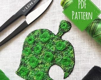 Floral Pop Leaf PDF Digital DIY Embroidery Pattern
