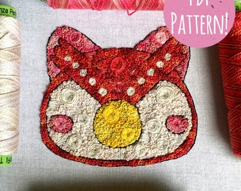 Floral Pop Celeste PDF Digital DIY Embroidery Pattern