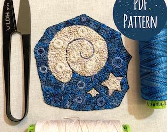 Floral Pop Fossil PDF Digital DIY Embroidery Pattern