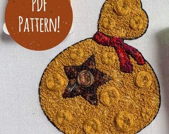 Floral Pop Bellbag PDF DIY Embroidery Pattern