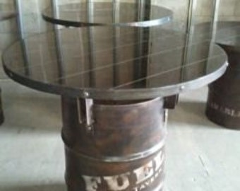 Beau 55 Gallon Drum Industrial Pub Table #030 U2022 Industrial Style Furniture By  Industrial Evolution Furniture Co.