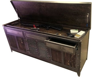 industrial furniture style. Industrial Media Console With Drawers And Hidden Compartment #007 \u2022  Style Furniture By Evolution Co. Industrial Furniture Style E