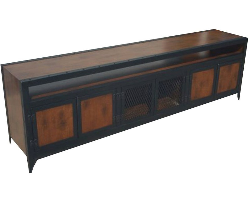 Industrial Media Console With Component Niche #003XLB U2022 Industrial Style  Furniture By Industrial Evolution Furniture Co.