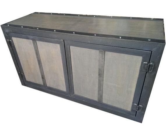 Credenza Industrial Fai Da Te : Weathered industrial credenza cabinet 031 style etsy