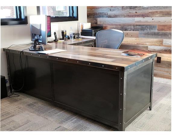 Industrial Office Desk File Cabinet, Industrial Office Furniture