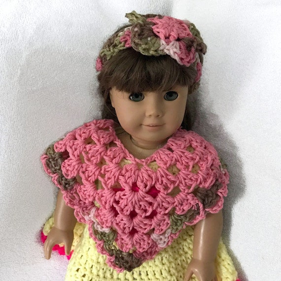 Doll clothes poncho hat set bitty baby American girl reborn doll handmade crochet doll clothing ready to ship any color available new doll