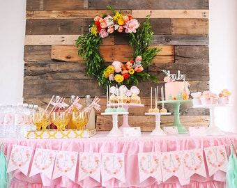 Flower Baby Shower Party Package- Printable